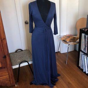 Abby & Mavis soft maxi wrap dress L NWT